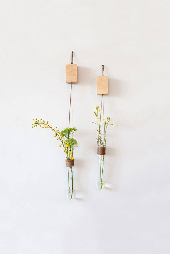 This Glass Wall Vase Is A Wall Test Tube Vase For Flowers This Hanging Wall Vase Is A Unique Home Ac Jarrones De Pared Floreros Colgantes Jarrones Decorativos