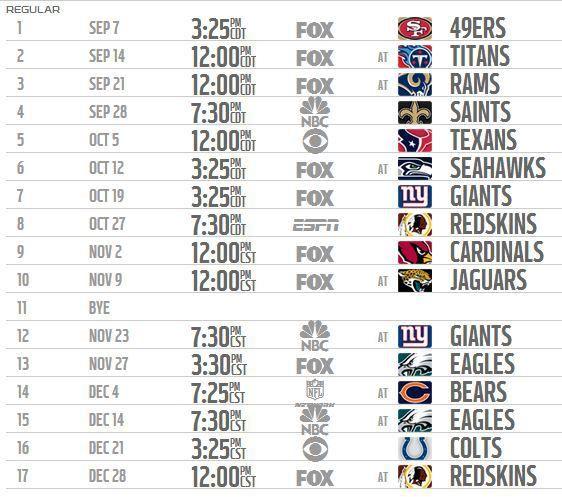 Dallas Cowboys Schedule Dallas Cowboys Schedule Cowboys Schedule Dallas Cowboys