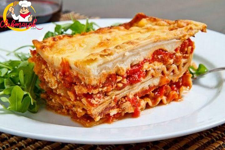 Resep Lasagna Kukus Club Masak Stuffed Peppers Recipes Cheese Lasagna Recipe