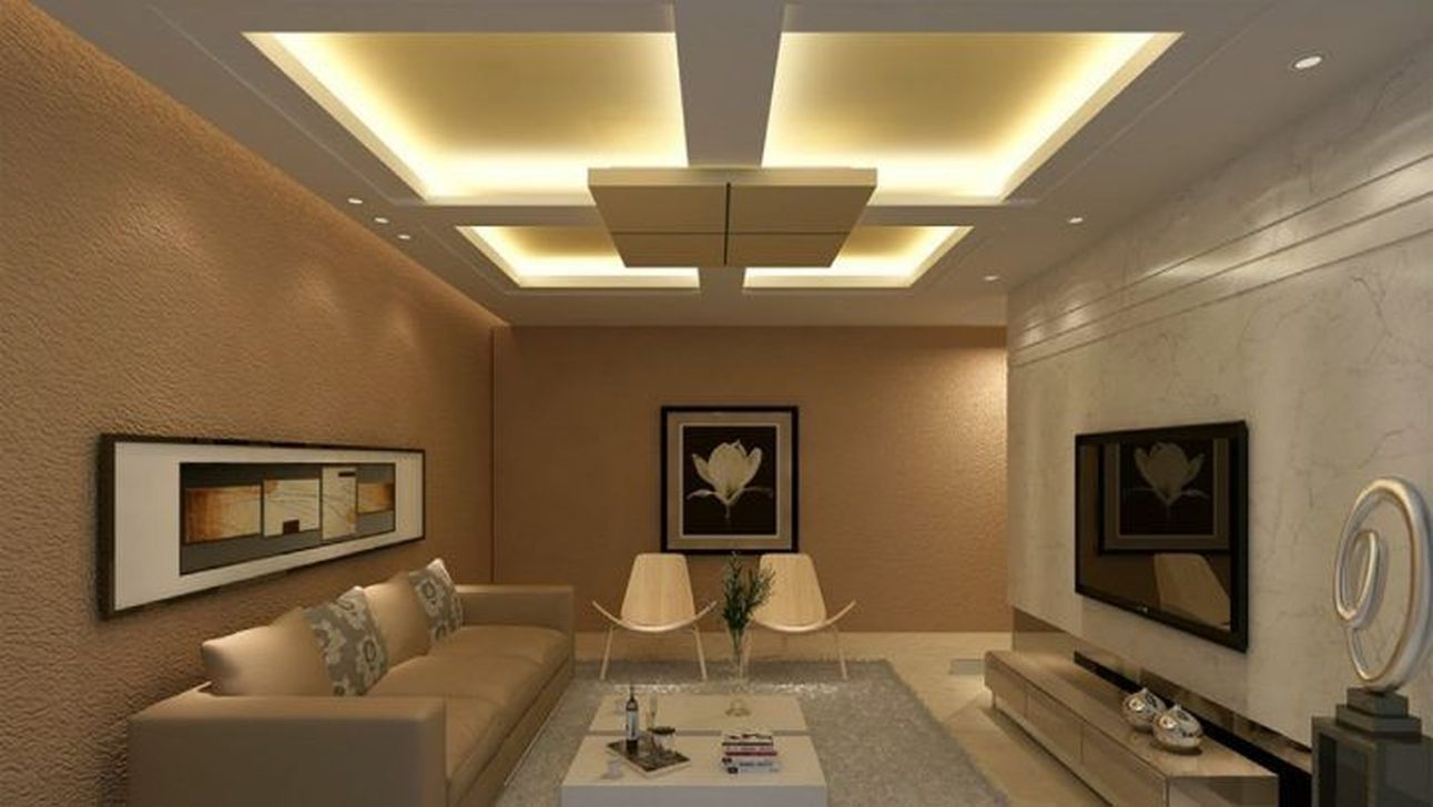 45 awesome simple ceiling designs for living room in 2020