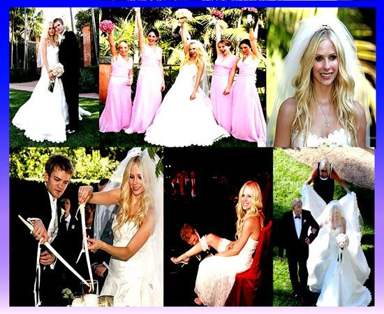 wedding dress of Avril Lavigne during her unique wedding ceremony ...
