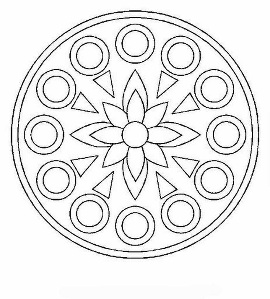 Mandalas Para Pintar: mandalas para colorear   circulos y formas ...