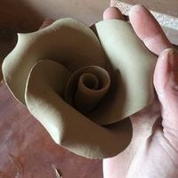 How to Make a Big Rose out of Clay