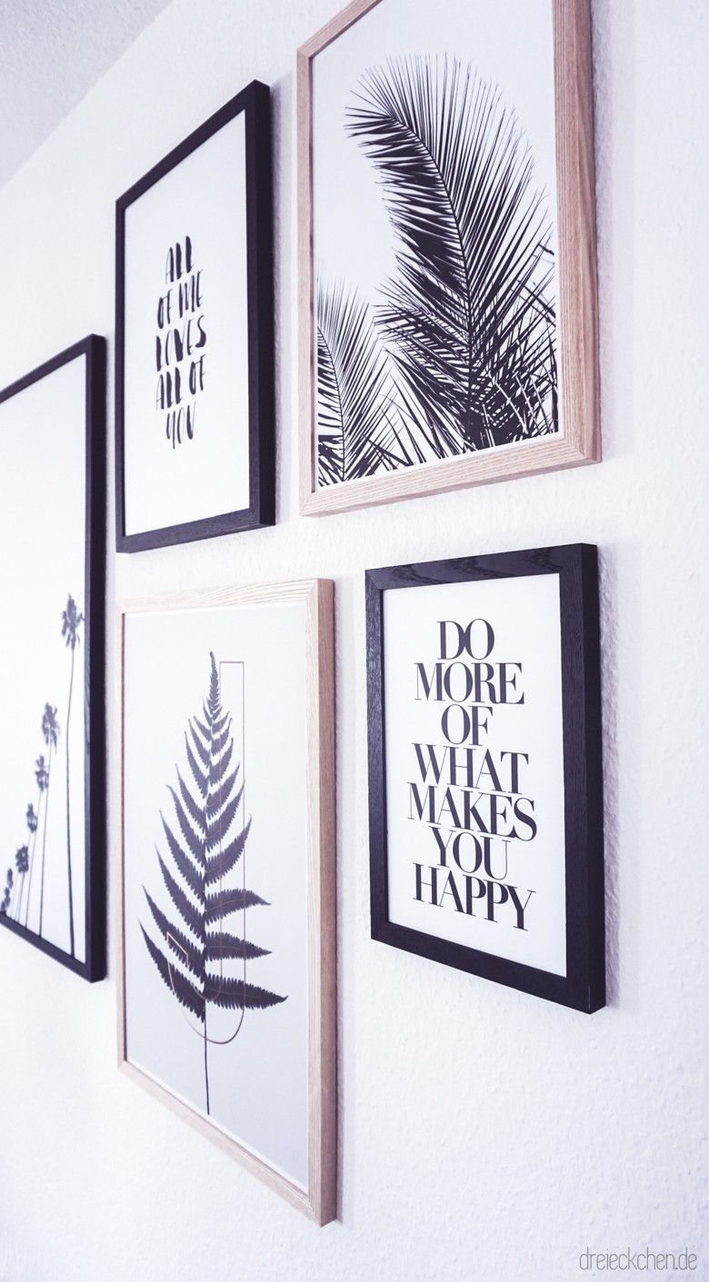 Photo of Living room inspiration: New Botanical Gallery Wall in black and white ›triangle – Lifestyle Blog #dreimalanders