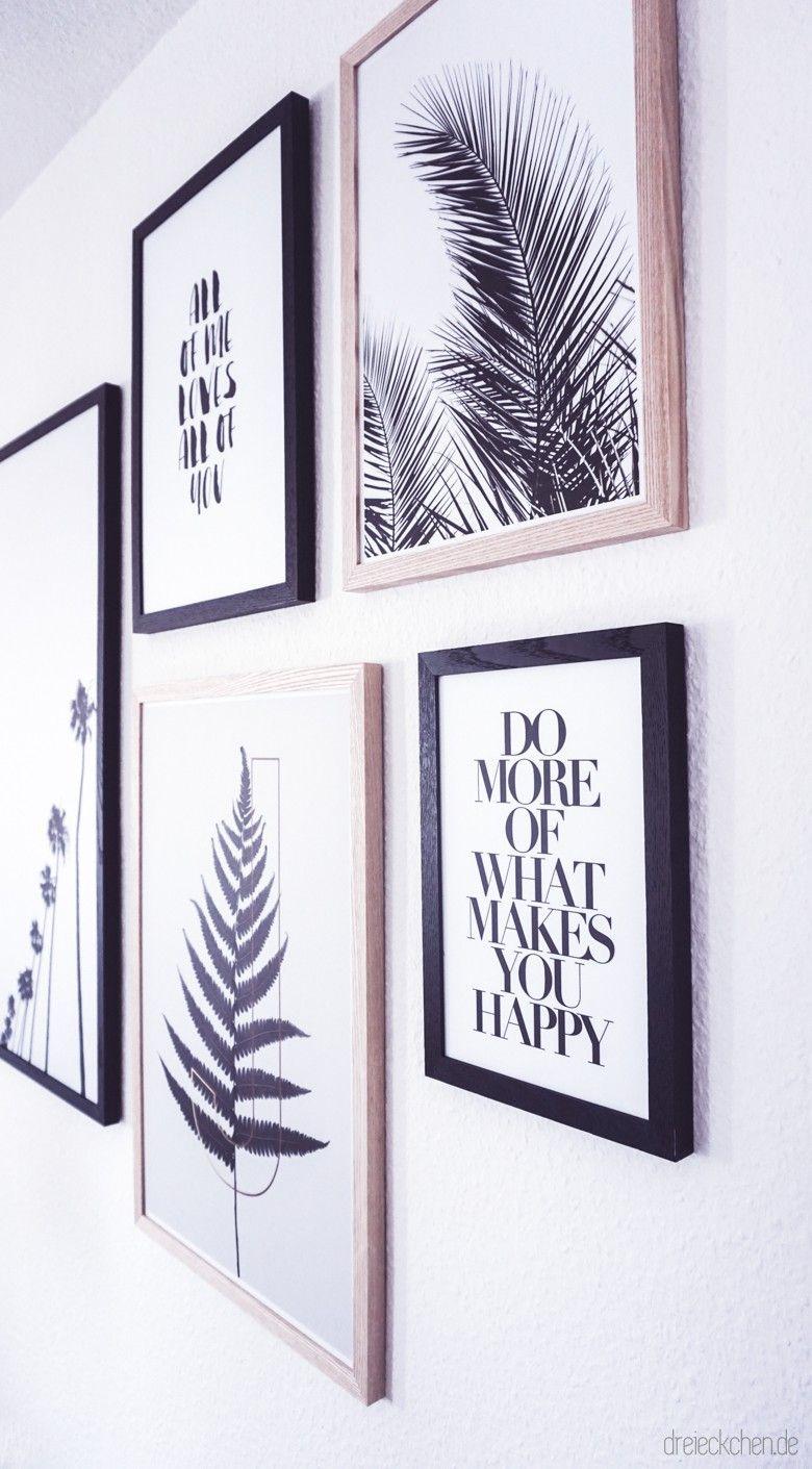 Photo of Wohnzimmer Inspiration: Neue Botanical Gallery Wall in Schwarz-Weiß › dreieckchen – Way of life Weblog #dreimalanders