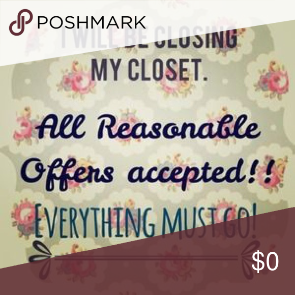 Closing My Closet Moving Soon! Everything Must Go! Other