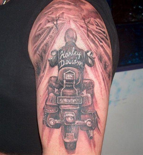 25 Adventurous Harley Davidson Tattoos Harley Davidson Tattoos