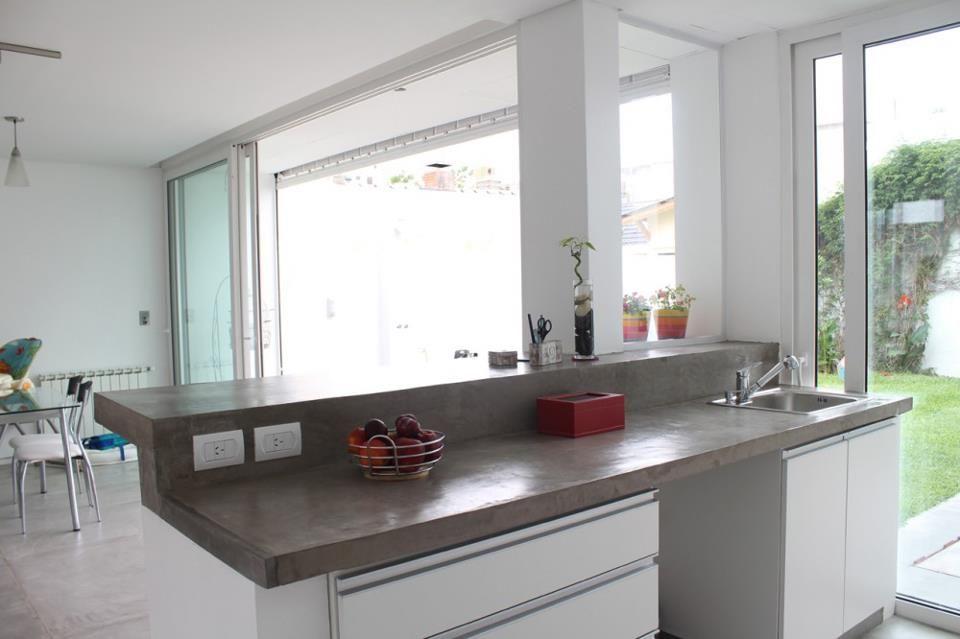 Una barra de concreto en tu cocina, dura mucho y puedes picar tus ...
