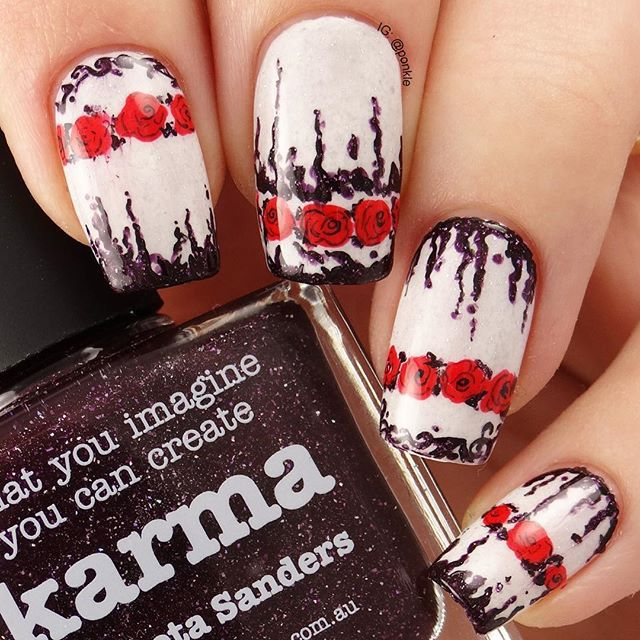 I believe it's December The 7th almost everywhere on Earth right now ❤️ Let's celebrate #picturepolishfest2015 with this mani created with Karma, Love and LakoDom!! @picturepolish  via ✨ @padgram ✨(http://dl.padgram.com)