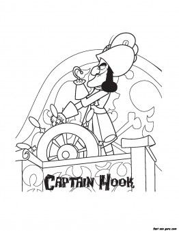 Printable Captain Hook Pirates Coloring Pages Printable Coloring Pages For Kids Pirate Coloring Pages Pirate Party Supplies Disney Coloring Pages