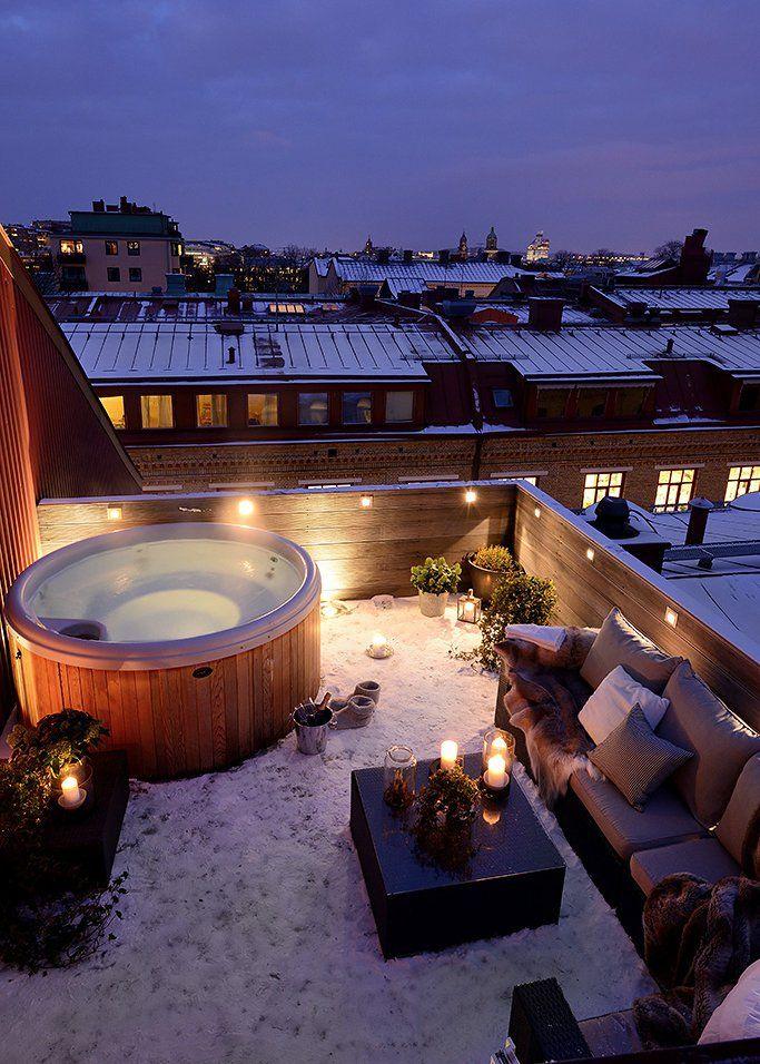 Toit terrasse tout savoir sur l 39 am nagement d 39 un rooftop Piscine gonflable sur terrasse appartement