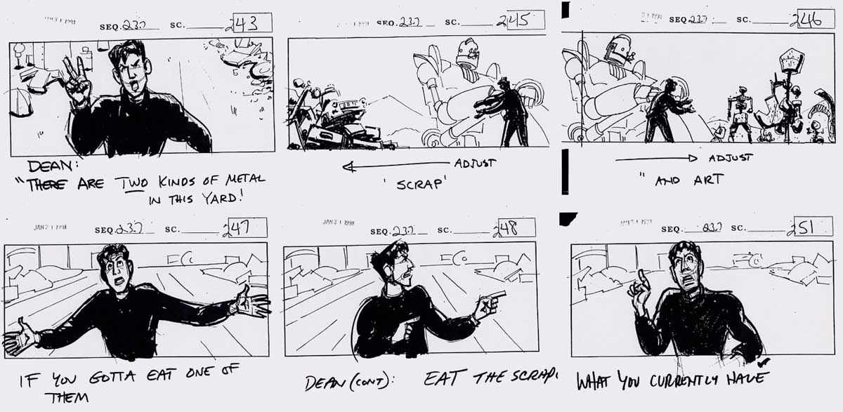 The Iron Giant storyboards StoryBoard Pinterest Storyboard - sample script storyboard