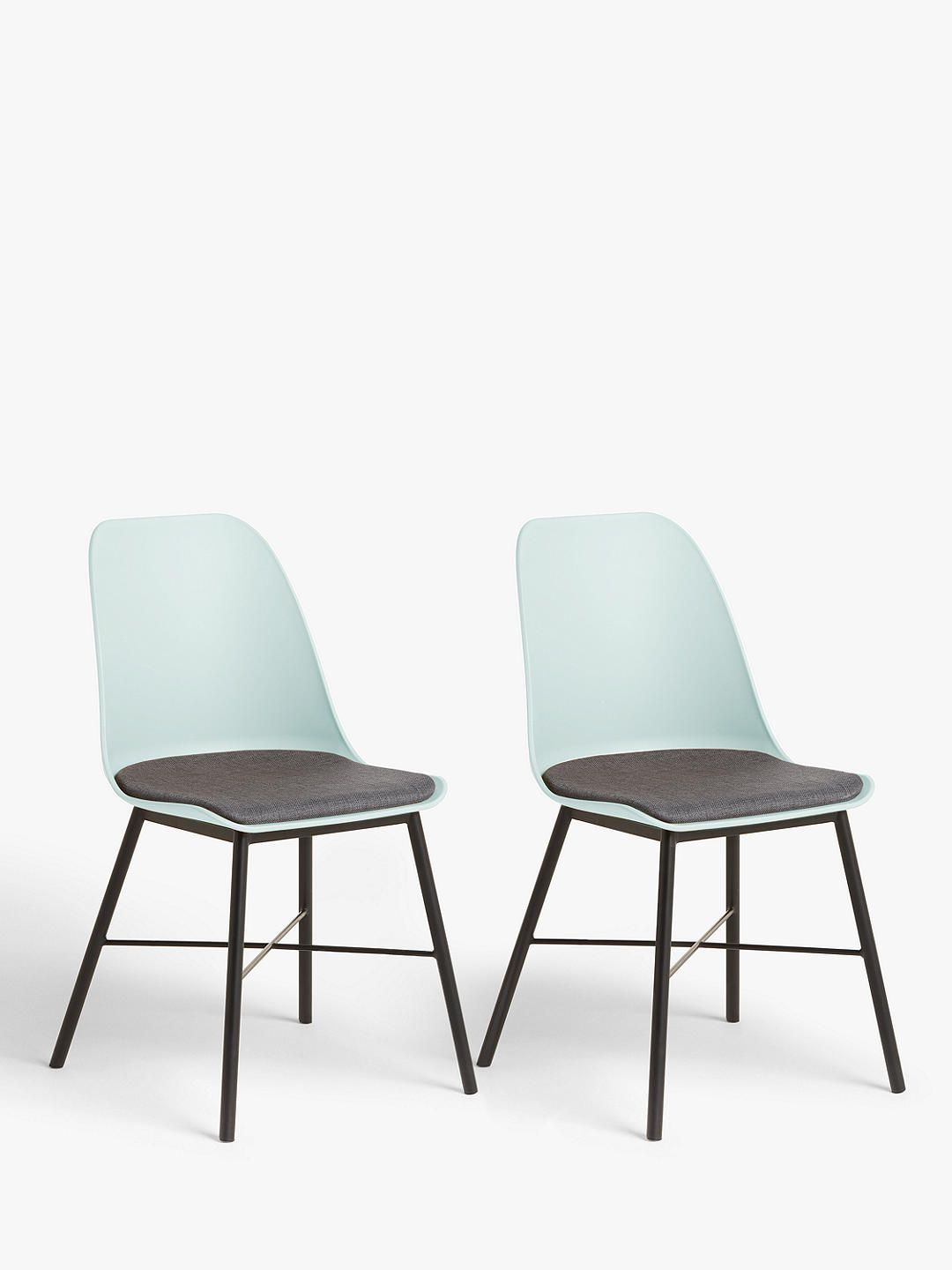 House By John Lewis Whistler Dining Chairs Set Of 2 Mineral Blue