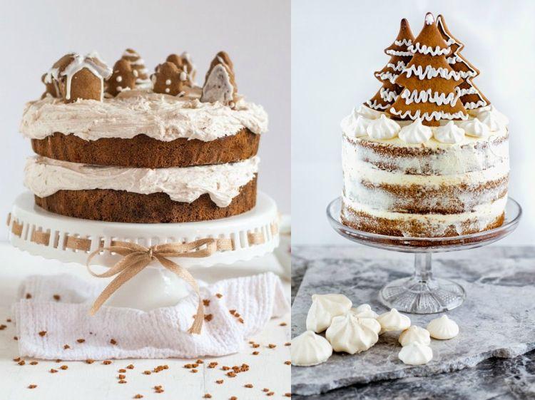 kuchen weihnachten dekorieren zimtkuchen zimtkekse #weihnachtsdeko - küche dekorieren ideen