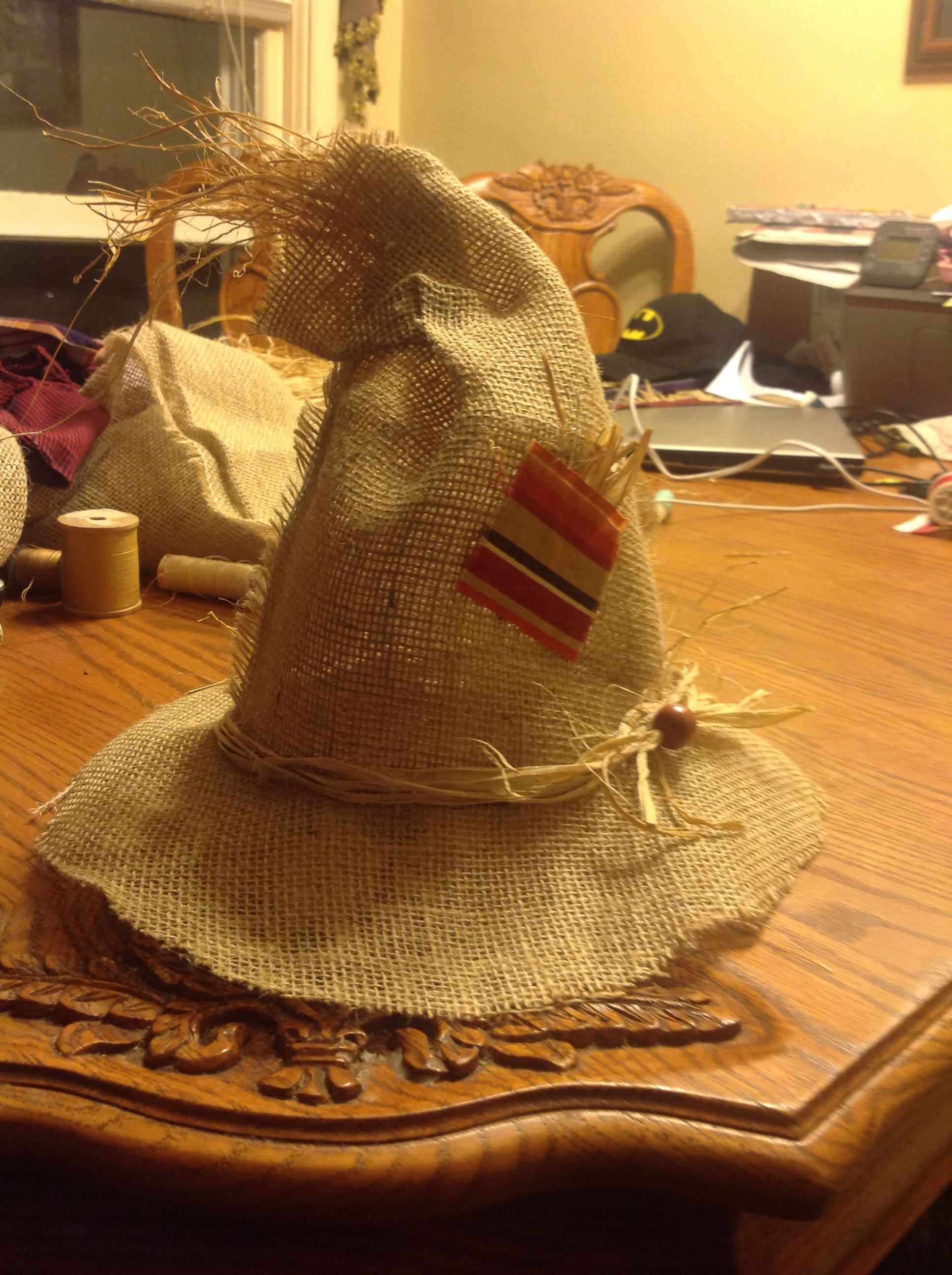 Scarecrow Hat I Made For My Baby Boy