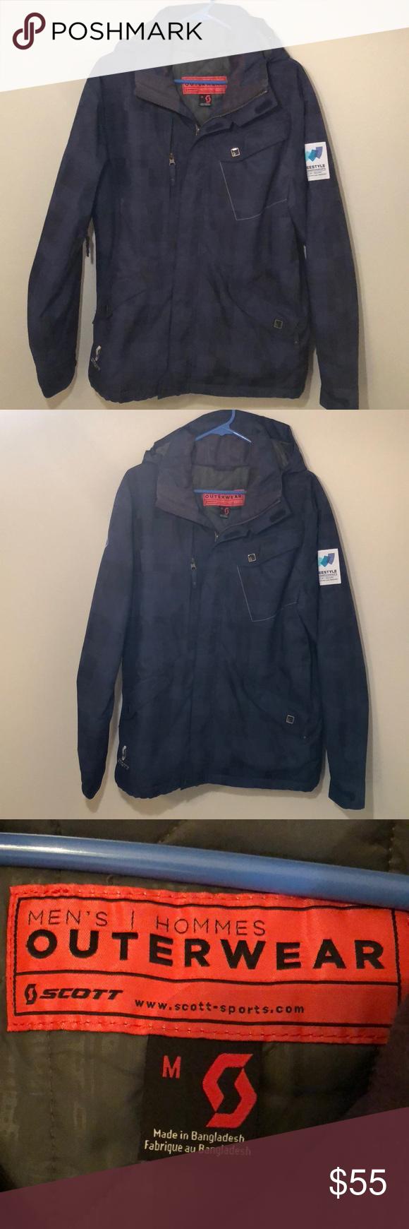 Men S Scott Snowboarding Jacket With Hood Size M Snowboard Jacket Hooded Outerwear Hooded Jacket [ 1740 x 580 Pixel ]