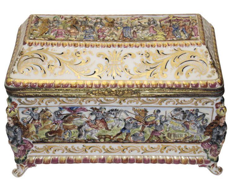 Antique Italian Capodimonte Porcelain Dresser Box  sc 1 st  Pinterest & Antique Italian Capodimonte Porcelain Dresser Box | Dresser ... Aboutintivar.Com