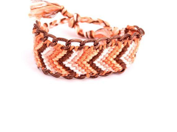bracelet brésilien ou friendship dans les tons cuivrés par vicetleo, €35,00