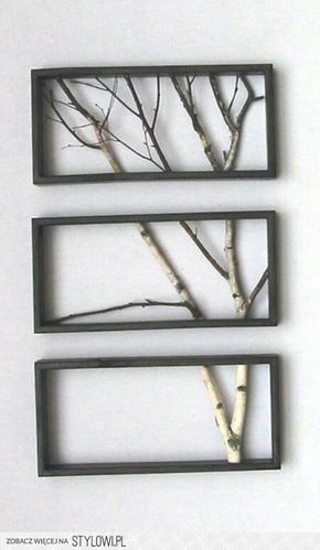 Attractive Tree Branch Art Using Quaking Aspen And Cedar Fence Boards For Frames.  #ecohousematerials