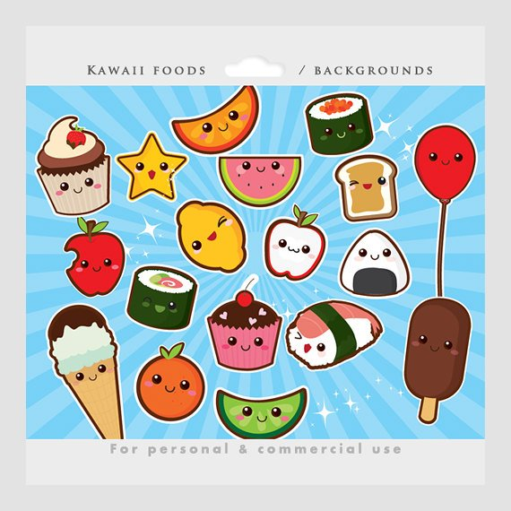 Cute Food Clipart Background