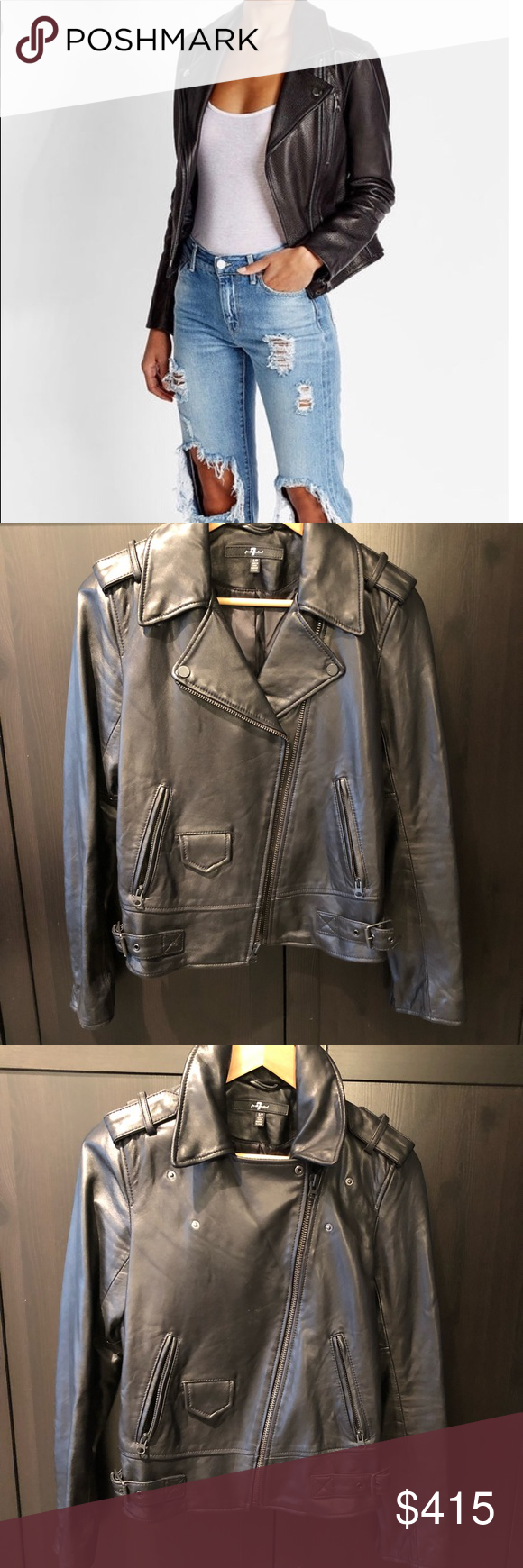 New Mens Leather Motorcycle Jacket Slim fit Leather Jacket Coat A507