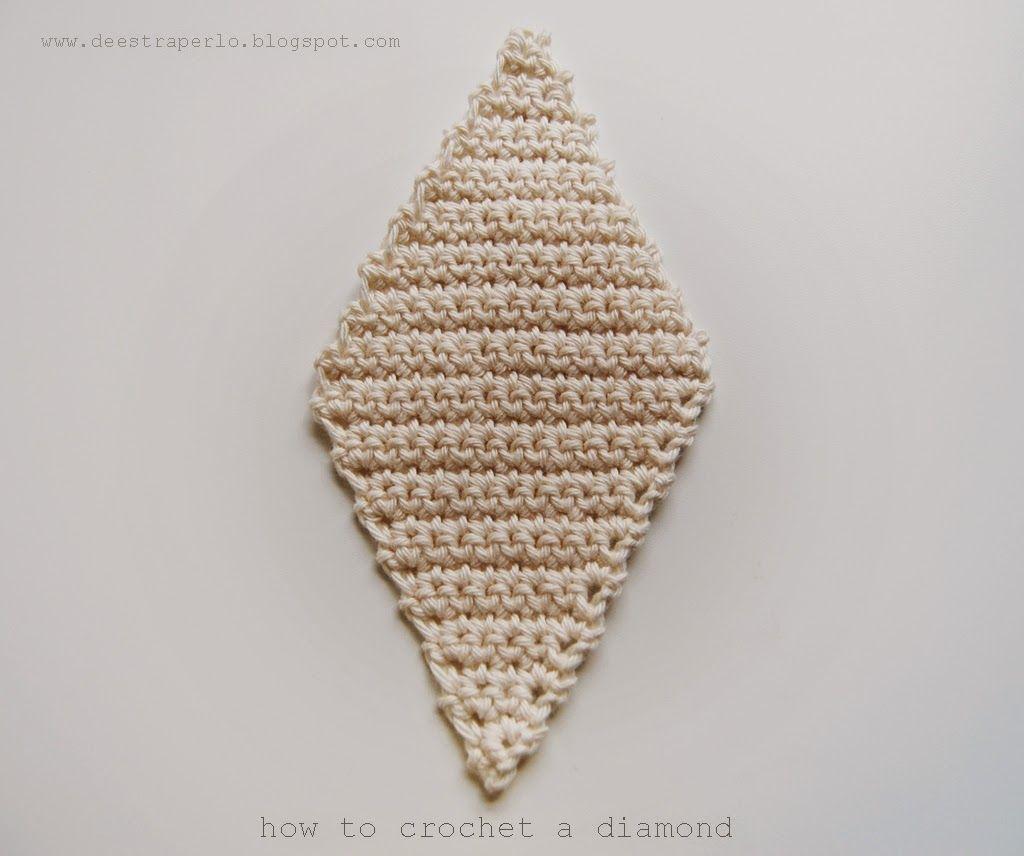De Estraperlo: How to crochet diamonds | Crochet How-to | Pinterest ...