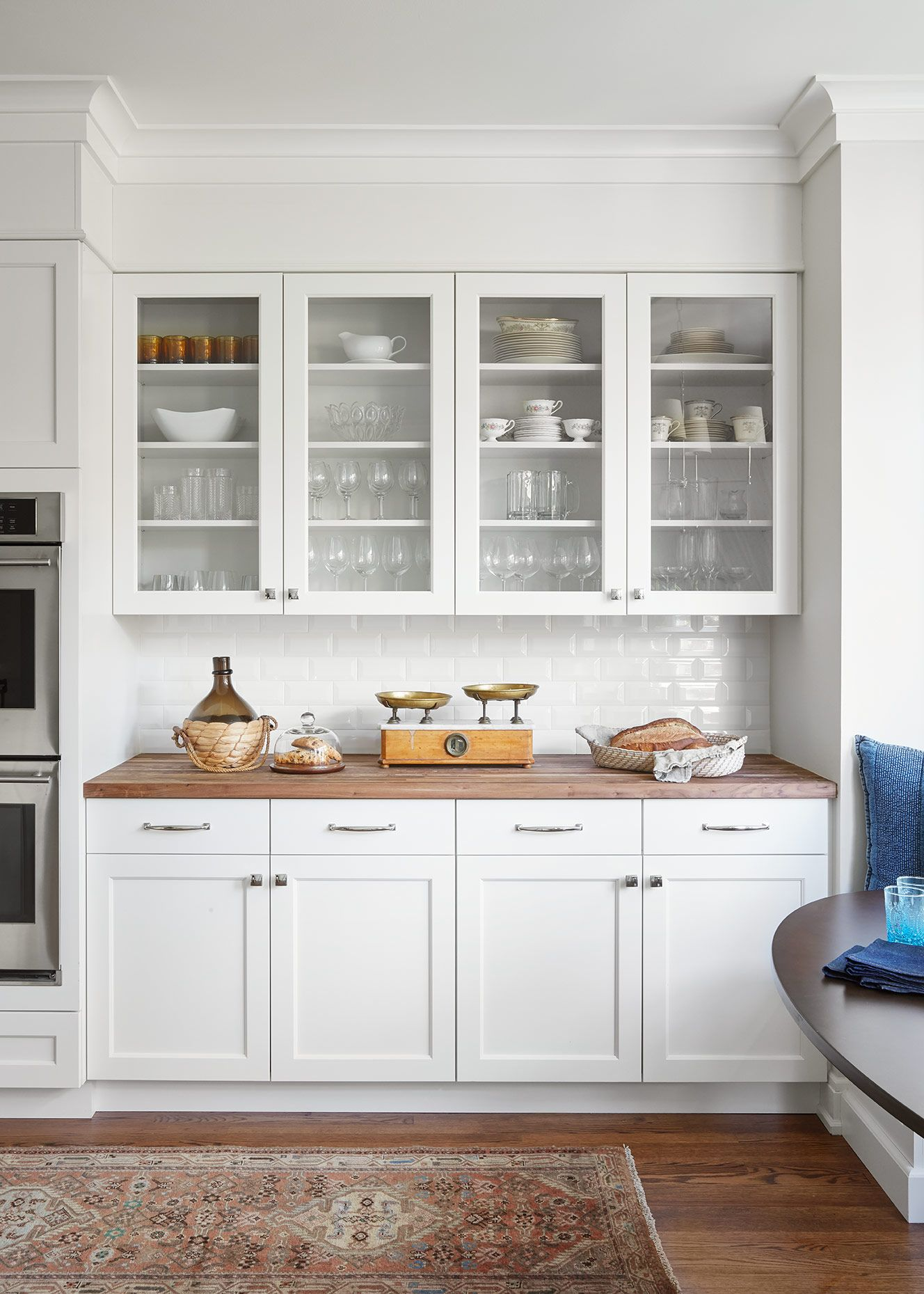Old World Meets New World Rue White Modern Kitchen White