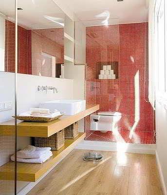 banheiros-com-pastilhas-31 Coisas para comprar Pinterest - led panel küche