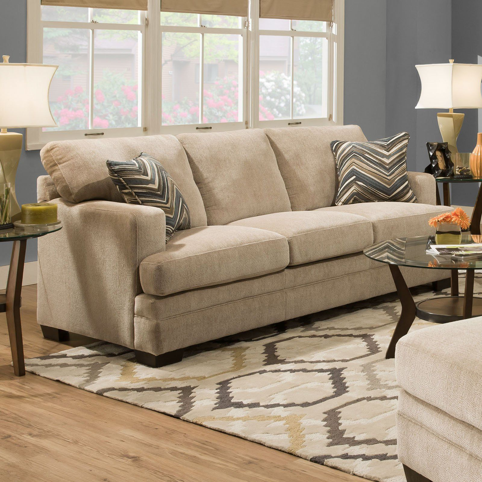 Simmons Upholstery Sassy Queen Hide A Bed   Barley ...