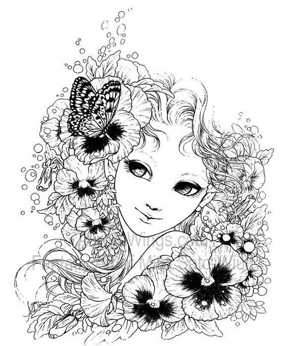 Fantasy Art Coloring Book With 19 Images Gardens By AuroraWings