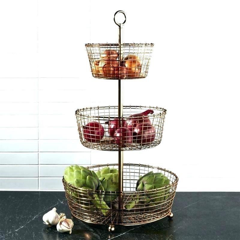 Attractive 3 Tier Fruit Stand Basket Snapshots Unique