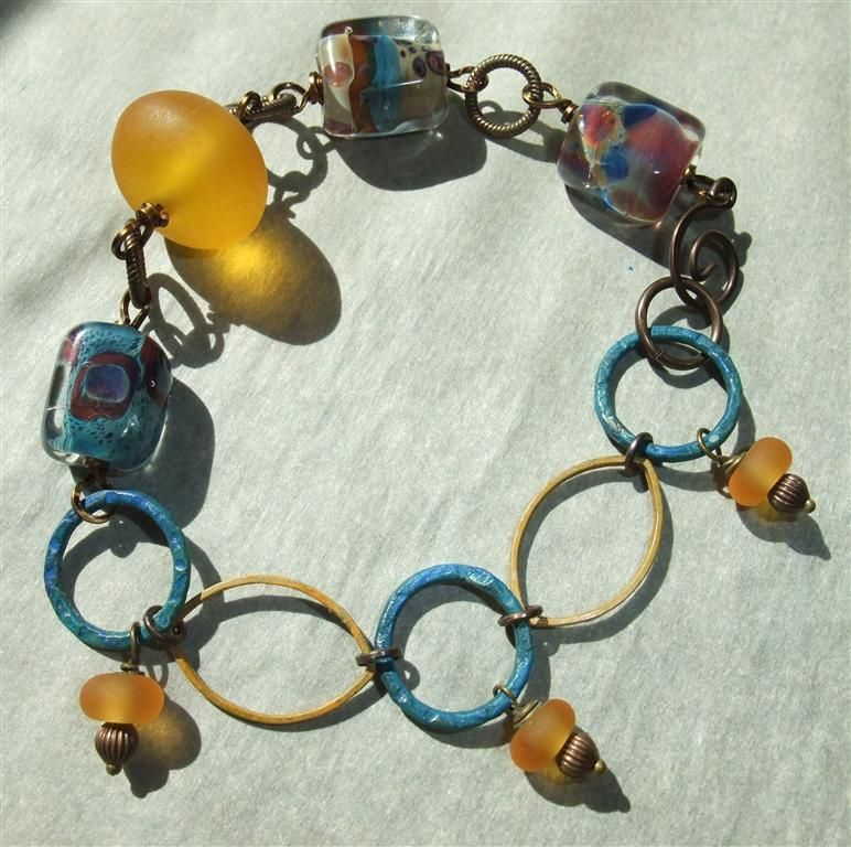 The Cube Handmade Lampwork Beads Are From Artist Rhonda