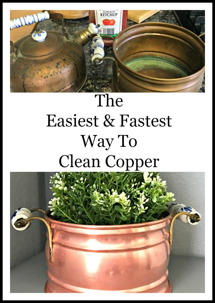 How to clean copper mugs, pots, pans, and more! This is the easiest and fastest way, and would you believe its with ketchup!