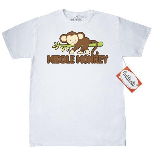 Inktastic Middle Monkey T-Shirt Child Siblings Family Humor Funny Sibling Sister - Funny Sibling Shirts - Ideas of Funny Sibling Shirts #funnyshirts #siblingshirts -  Inktastic Middle Monkey T-Shirt Child Siblings Family Humor Funny Sibling Sister Brother Oldest Youngest Sis Bro Mens Adult Clothing Apparel Tees T-shirts Size: Large White #middlechildhumor Inktastic Middle Monkey T-Shirt Child Siblings Family Humor Funny Sibling Sister - Funny Sibling Shirts - Ideas of Funny Sibling Shirts #funny #middlechildhumor