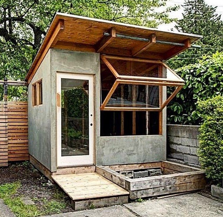 Cabins Shed Diy On Instagram Details Of Implemented Plan Building Area 97 Sqft Complete Set Of Backyard Sheds Tiny House Design Backyard Office