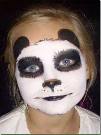 Pin By Teresa Gomez On Make Up Panda Face Painting Panda Costume