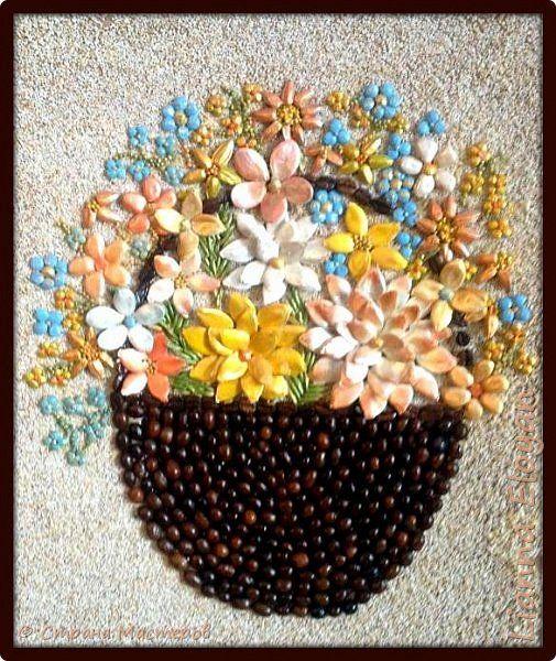 Цветы своими руками крупами
