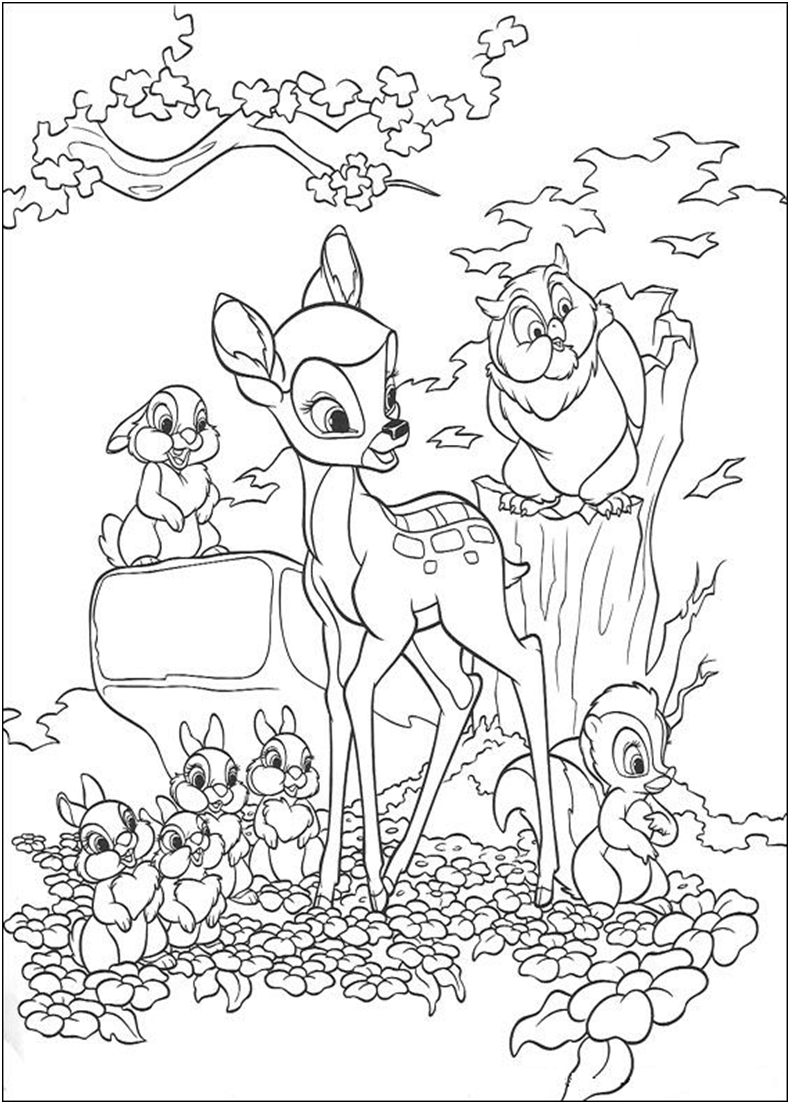 Bambi 2 coloring page