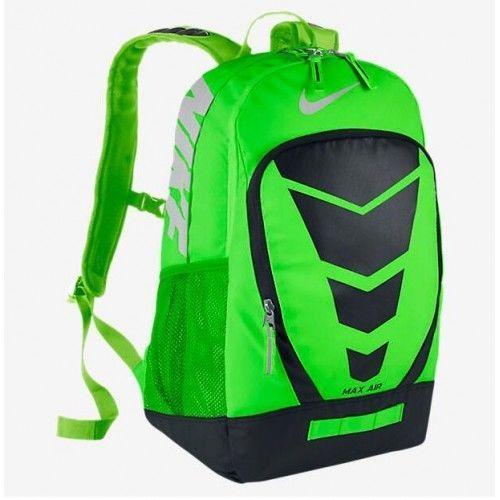 90acbca5e2 Nike Max Air Vapor Football Backpack Green Black Silver 2075 CU in BA4883  330  Nike  Backpack