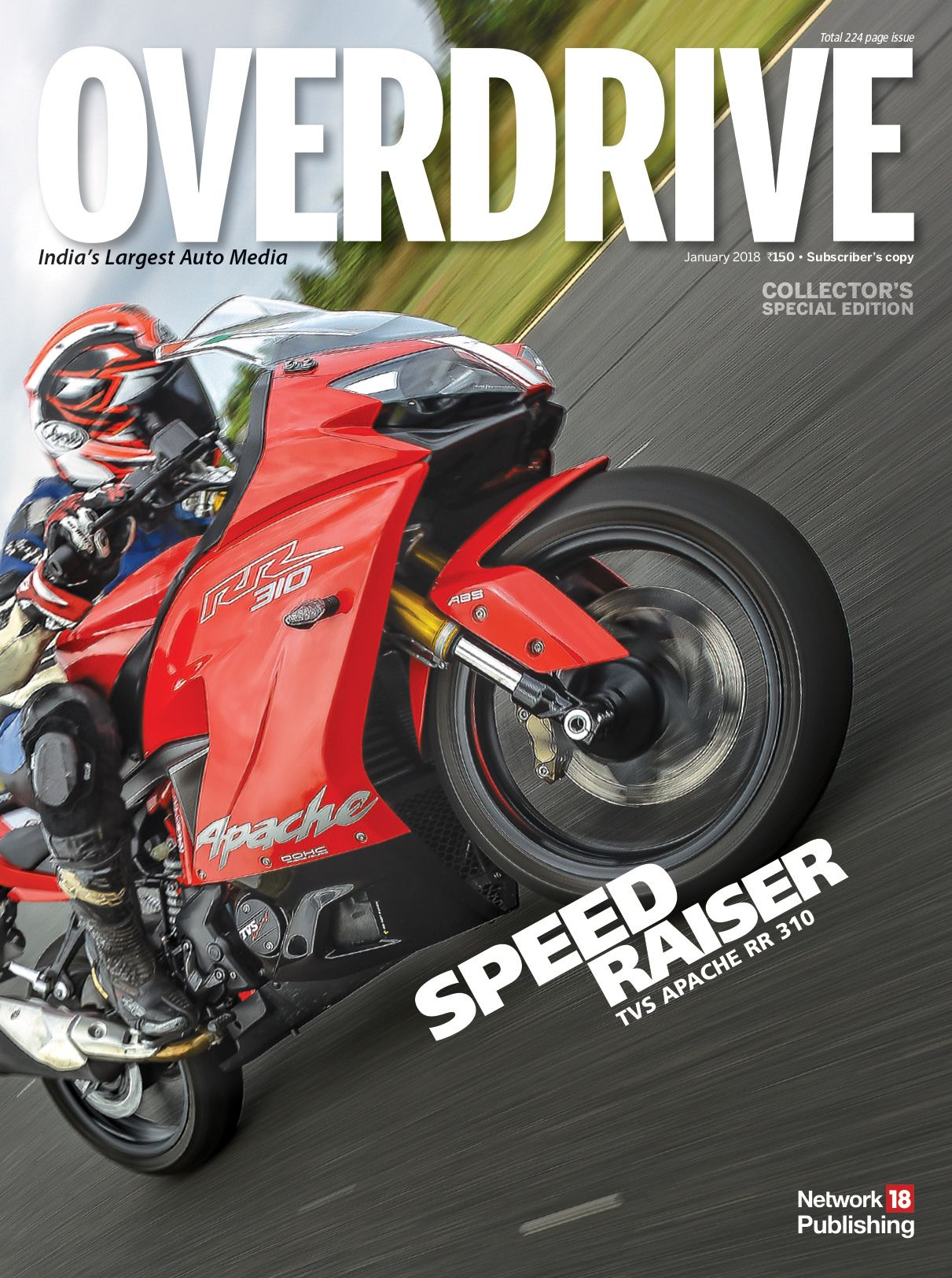 Overdrive Magazine January 2018 Subscriber Cover Latest Cars