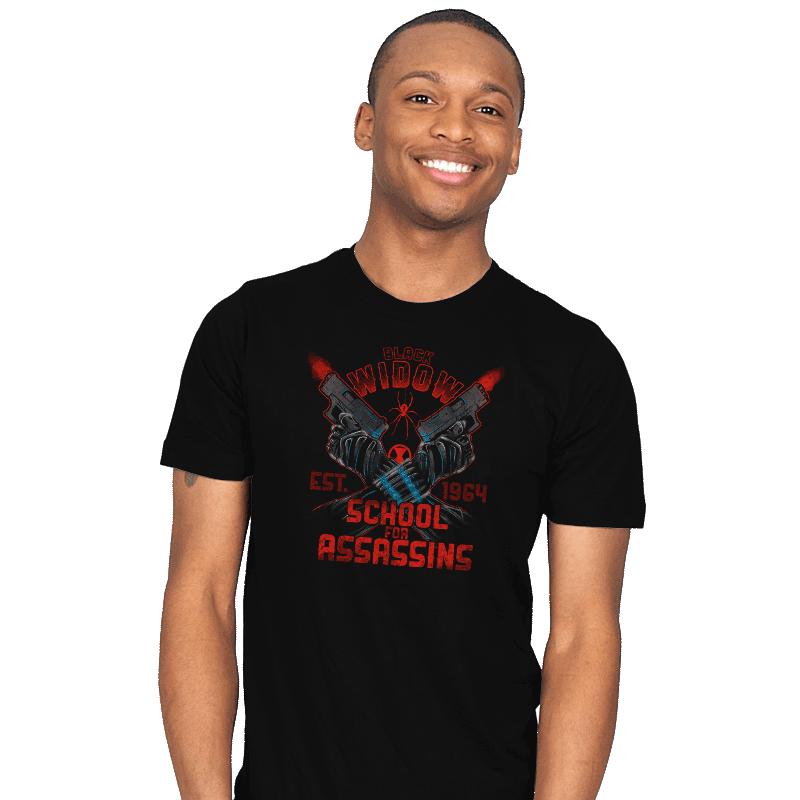 Nat's School for Assassins T-Shirt - Black Widow T-Shirt is $18 at Ript!