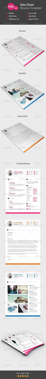 Geo Clean Resume by suavedigital Geo Clean Resume is professional