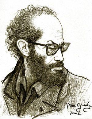 Jaime Saenz, dibujo a lápiz, 2012