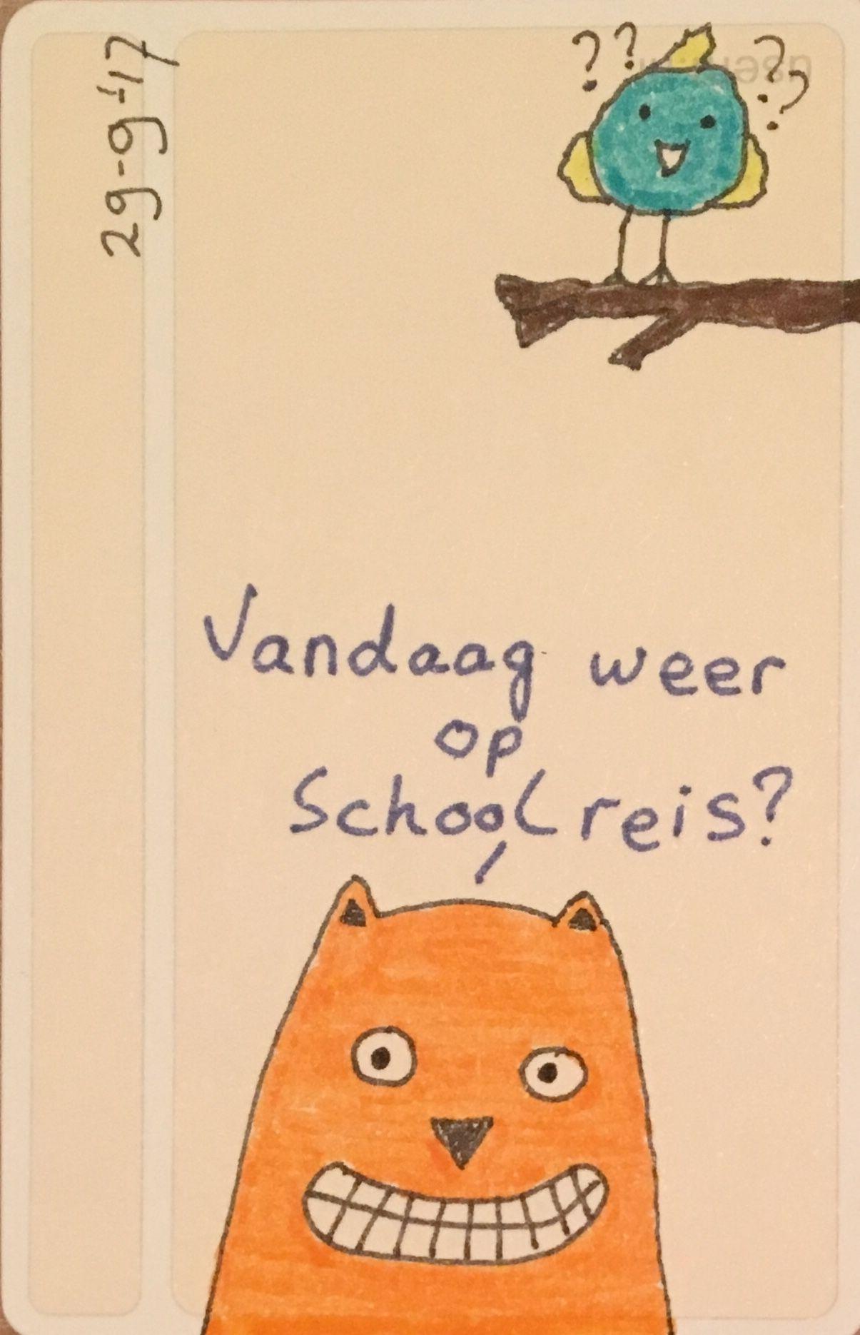 Vandaag weer op schoolreis? #broodtrommel #usem
