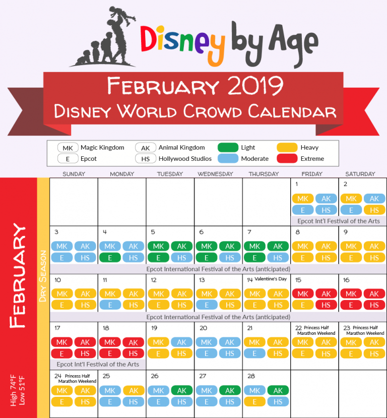 Disney World Crowd Calendar, February 2019 February 2019 Disney World Crowd Calendar | Disney 2018 in 2019