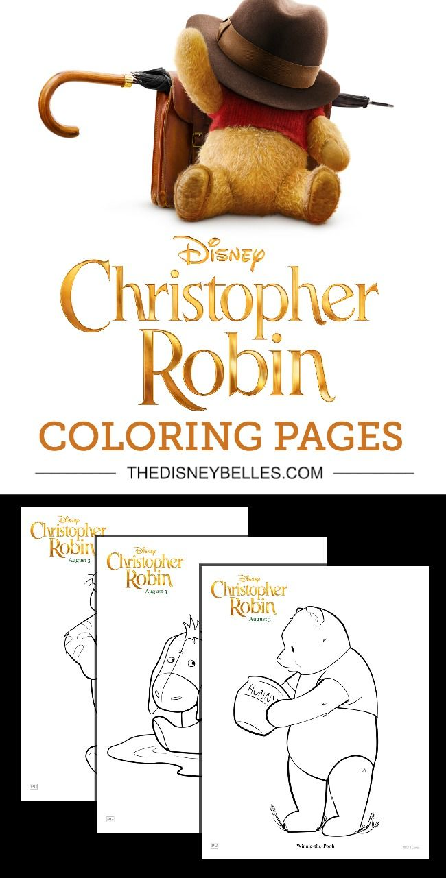 Disney\'s Christopher Robin Coloring Pages - The Disney Belles | 2017 ...