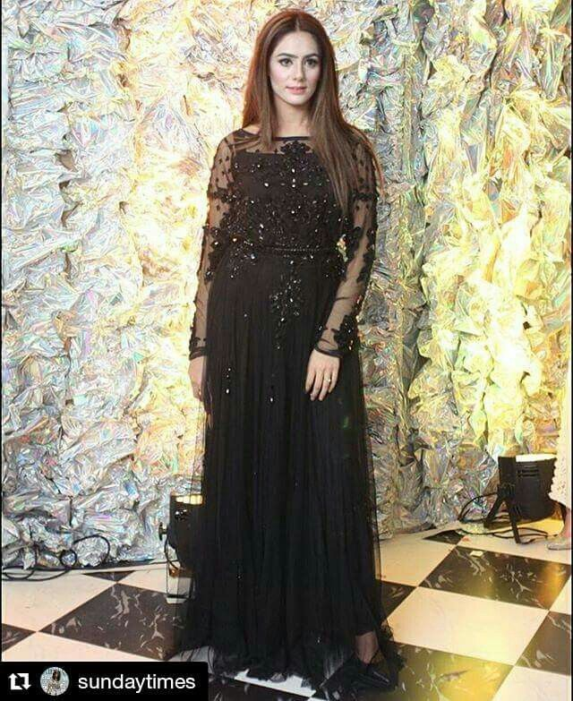 Black Beauty Amazing Dress By Pakistan Dress Designs Anarkali