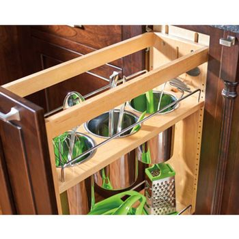 Rev A Shelf Base Cabinet Pullout Utensil Organizer With