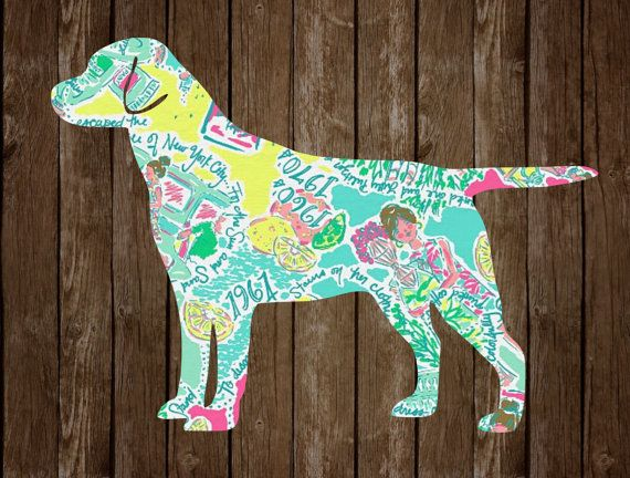 Lilly Inspired Labrador Sticker Preppy by NatsNicheByNatalie