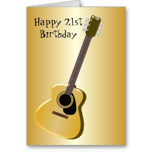 Guitar 21st birthday card 21st birthday and birthdays guitar 21st birthday card bookmarktalkfo Choice Image